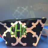 Stylized Damask Cosmetic Bag