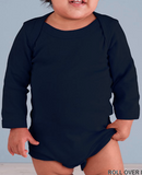 Rabbit Skins Infant Baby Rib Lap Shoulder Long Sleeve Creeper
