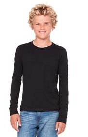 Bella + Canvas Jersey Long-Sleeve T-Shirt-Youth