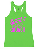 "Badger ""Sweatin' Like a Sinner in Church"" Performance Racerback Tank"