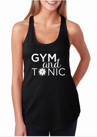 "Next Level ""Gym and Tonic"" Terry Racerback Tank"