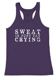 "Badger ""Sweat Is Just Fat Crying"" Performance Racerback Tank"