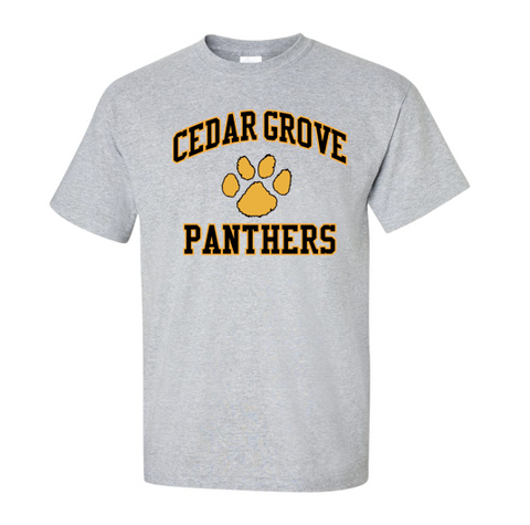 Gildan Cedar Grove Paw Two-Color T-Shirt