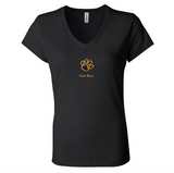 Bella + Canvas Cedar Grove Glitter Paw V-Neck