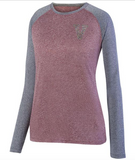 "Augusta ""V"" Ladies Kinergy Two Color Long Sleeve Raglan Top"