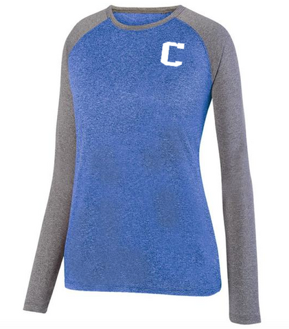 "Augusta ""C"" Ladies Kinergy Two Color Long Sleeve Raglan Top"