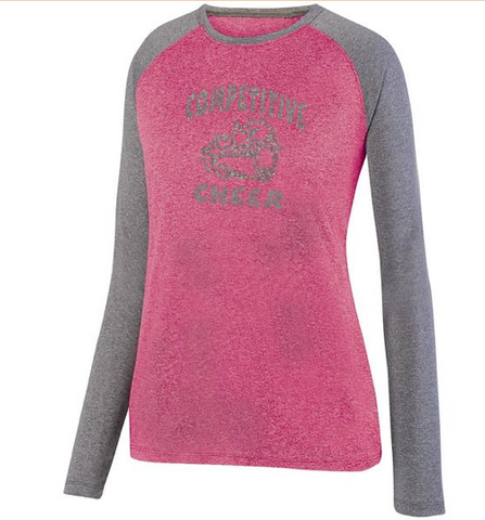 Augusta Competitive Cheer Ladies Kinergy Two Color Long Sleeve Raglan Top