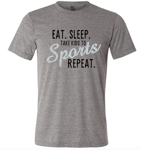 Eat Sleep Sports Unisex Triblend T-Shirt