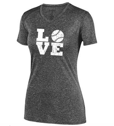 Augusta Softball Love Ladies Kinergy Training Tee