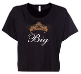 Bella + Canvas Big/Little Glitter Crown Flowy Boxy T-Shirt