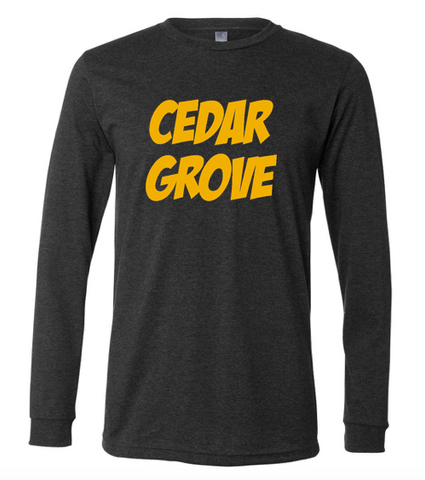 Bella + Canvas Cedar Grove Jersey Long Sleeve T-shirt