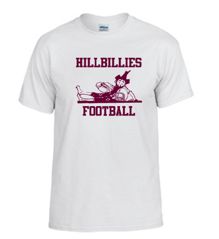Gildan Hillbillies Football T-shirt - White