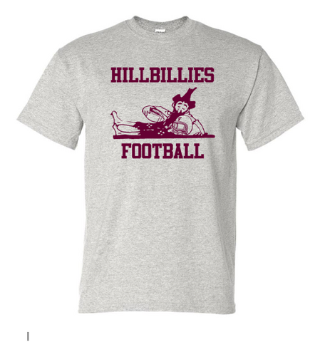 Gildan Hillbillies Football T-shirt - Sport Grey