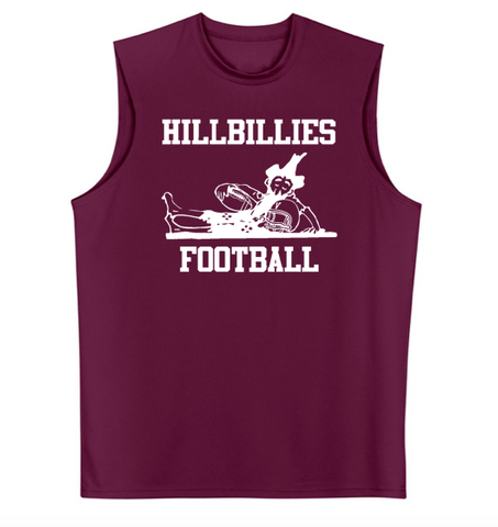 A4 Hillbillies Football Cooling Performance Muscle T-Shirt