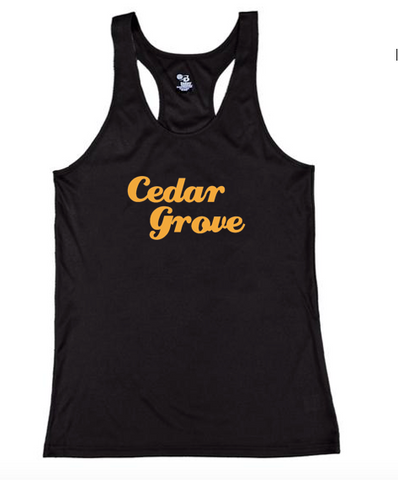 Badger Cedar Grove Ladies Performance Racerback Tank