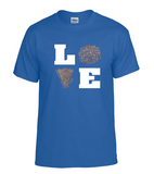 Gildan Customizable Love Cheer T-Shirt
