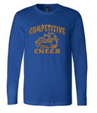 Bella + Canvas Customizable Competitive Cheer Long-Sleeve T-Shirt