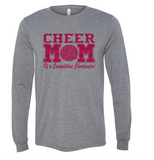 Bella + Canvas Customizable Cheer Mom Long-Sleeve T-Shirt