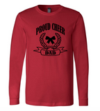 Bella + Canvas Customizable Proud Cheer Dad Long-Sleeve T-Shirt