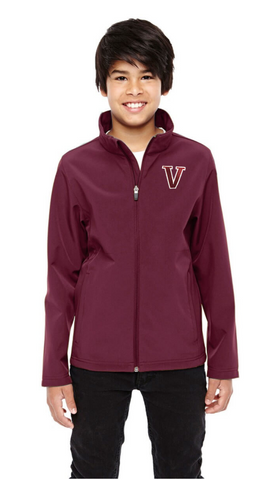 "Team 365 ""V"" Youth Leader Soft Shell Jacket"