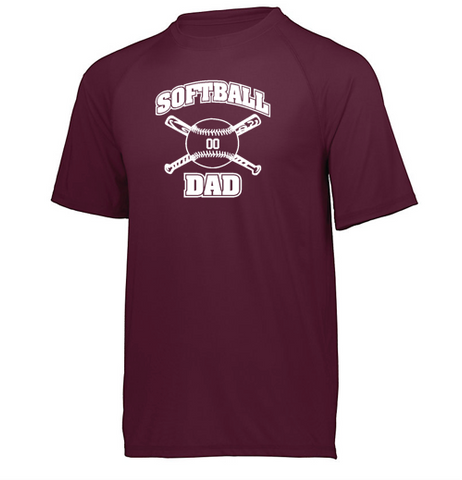 Holloway Softball Dad Swift Wicking Shirt