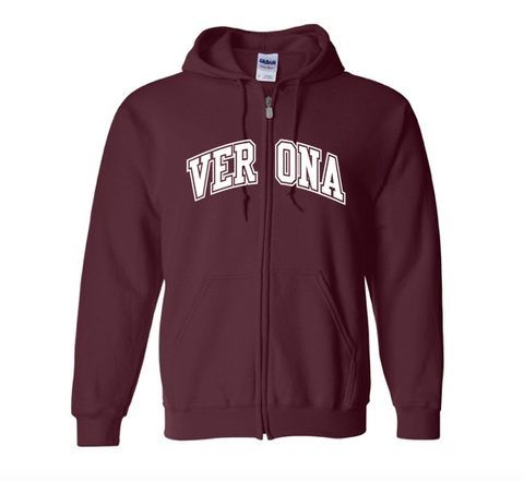 Gildan Verona Gap Outline Full Zip Sweatshirt