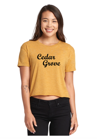 Next Level Cedar Grove Ladies' Festival Cali Crop T-Shirt