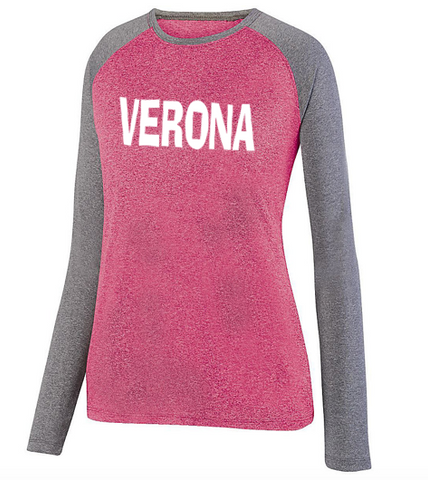 Augusta Verona Ladies Kinergy 2-Color Long Sleeve Top
