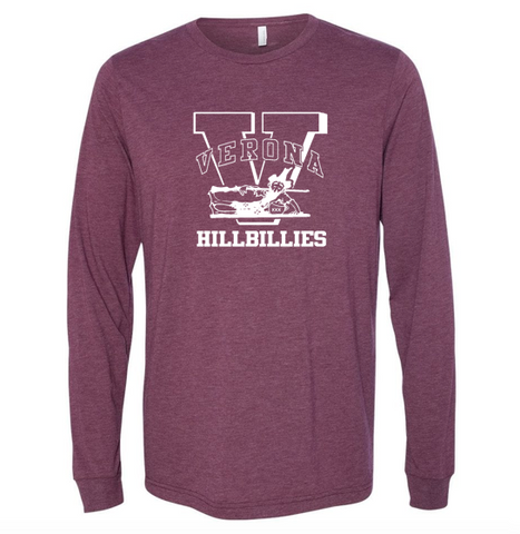 Bella + Canvas Verona Hillbillies Long Sleeve - Maroon