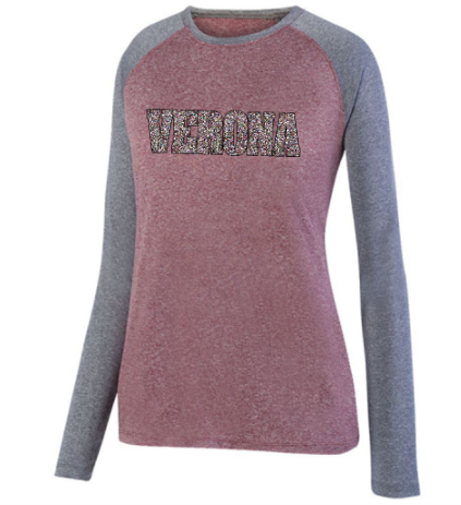 Augusta Verona Ladies Kinergy Two Color Long Sleeve Top