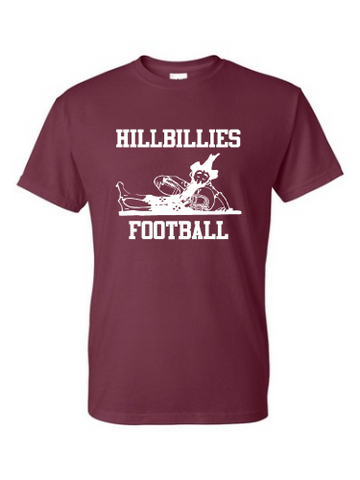 Gildan Hillbillies Football T-shirt - Maroon
