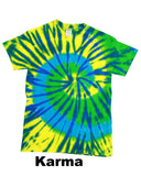 Tie Dye Customizable Cheer T-shirt