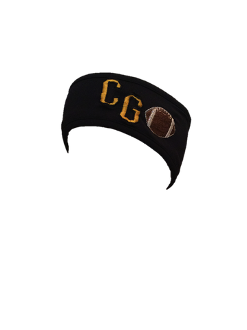 "Augusta Reversable Headband w/ ""CG"" and Football embroidery"