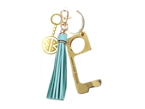 Pieces of Me Don't Touch That! Tassel Keychain