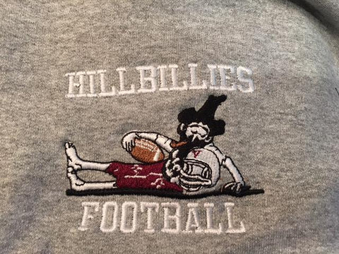 Gildan 1/4 zip pullover w/Hillbillies Football