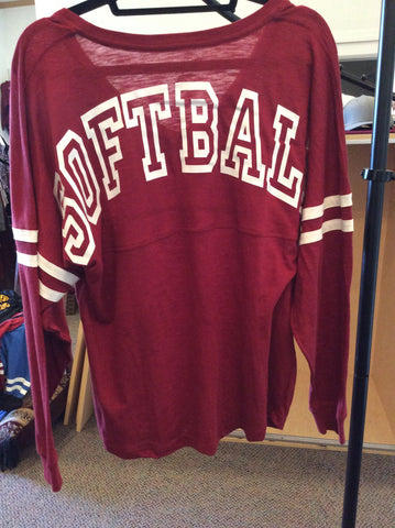 "Boxercraft V-Slub Shirt w/ ""Softball"""