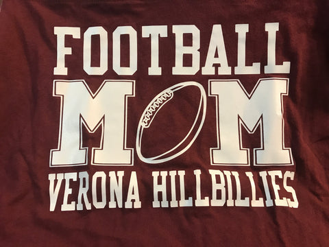 Boxercraft Football Mom Verona Hillbillies Powder Puff