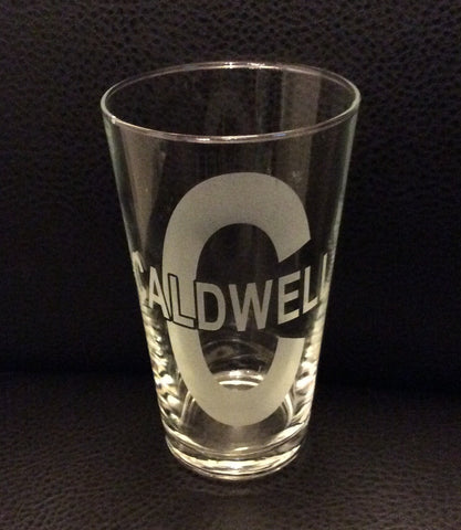 "Pint Glass-""Caldwell"""