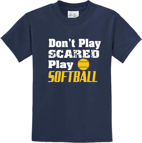 "Gildan ""Don't Play Scared Play Softball"" Short Sleeve T-Shirt"