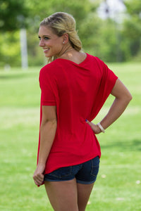Short Sleeve Piko Top - Red - Piko Clothing - 2