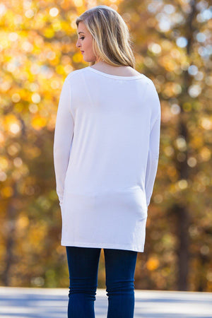Long Sleeve Slim Fit Piko Top - Off White - Piko Clothing