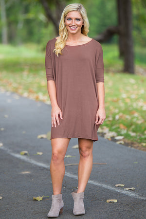 Half Sleeve Piko Tunic - Brown - Piko Clothing