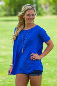 Short Sleeve Piko Top - Royal Blue - Piko Clothing