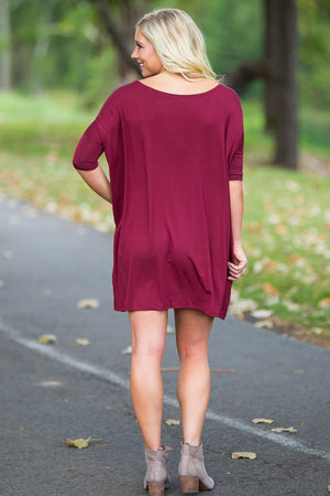 Half Sleeve Piko Tunic - Plum - Piko Clothing