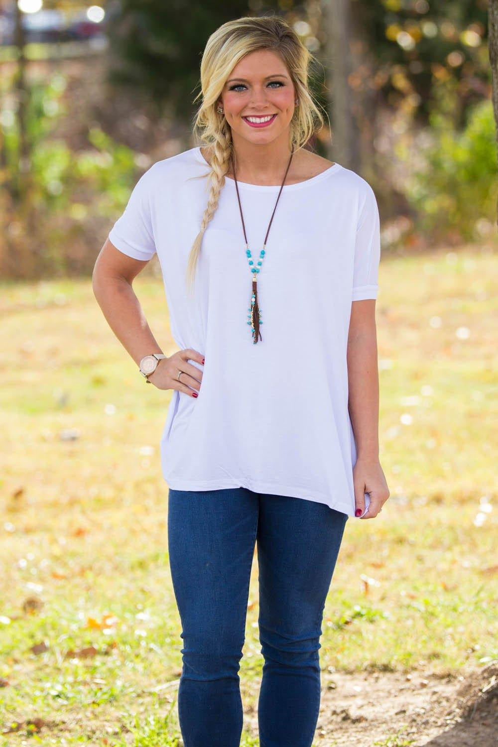 Short Sleeve Piko Top - White - Piko Clothing