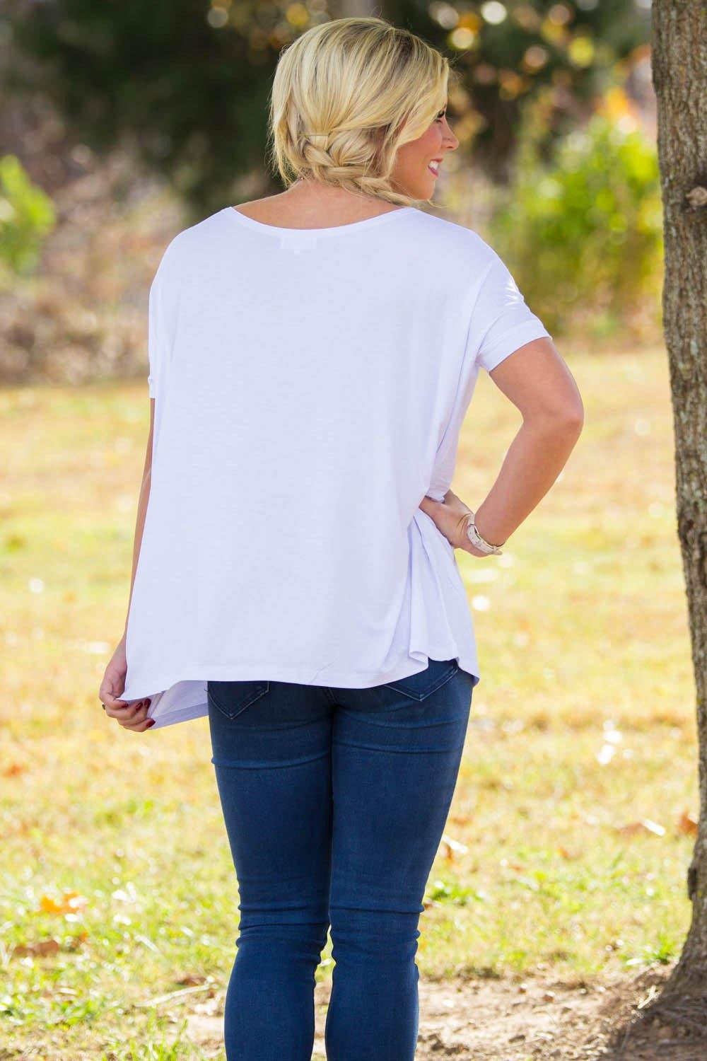 Short Sleeve Piko Top - White - Piko Clothing - 2