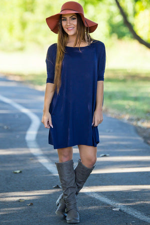 Half Sleeve Piko Tunic - Navy - Piko Clothing