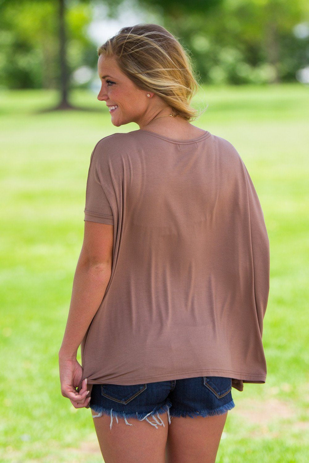 Short Sleeve Piko Top - Mocha - Piko Clothing - 2