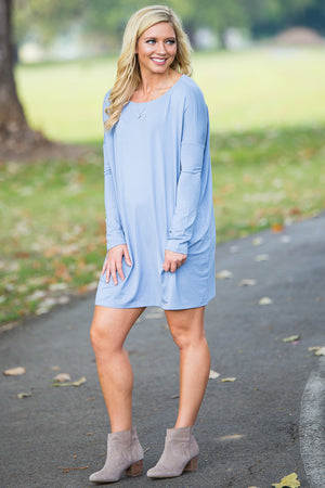 Long Sleeve Piko Tunic - Serenity - Piko Clothing
