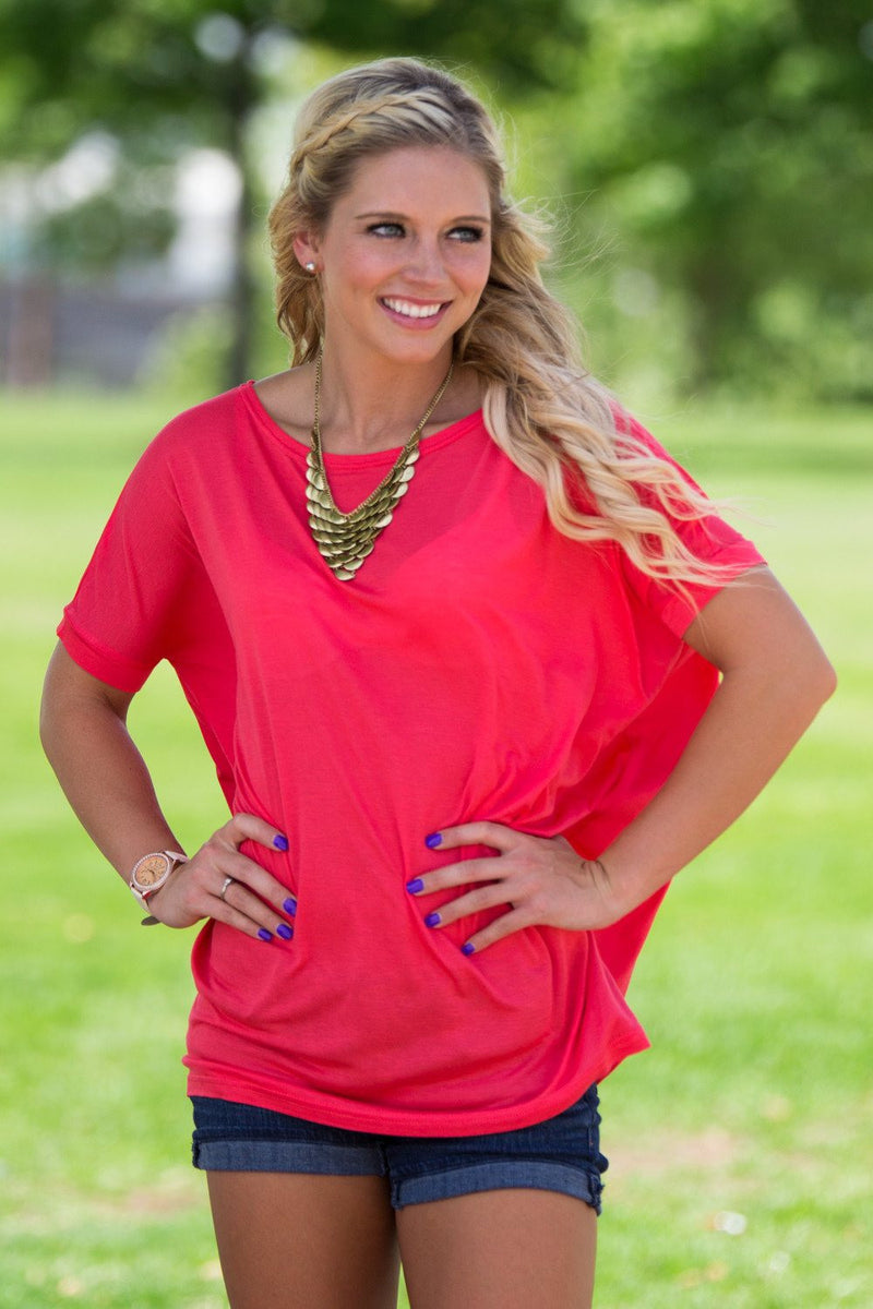 Short Sleeve Piko Top - Watermelon - Piko Clothing - 1